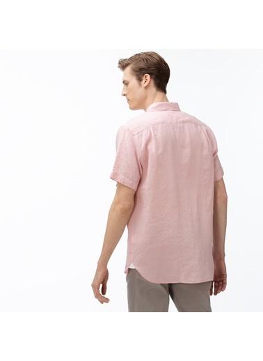 Lacoste Erkek Regular Gömlek CH4991.5MM Pembe